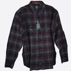 Grayers Heritage Flannel - Gray Black and Burgundy
